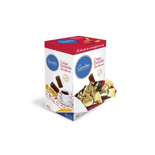 Boite Distributrice Crêpes Dentelle au Chocolat Noir
