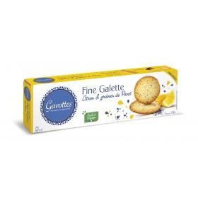 Fines Galettes au Citron et graines de Pavot