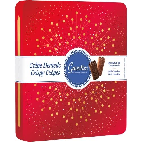 Coffret festif Assortiment de Crêpes Dentelle Chocolat au lait et Chocolat noir