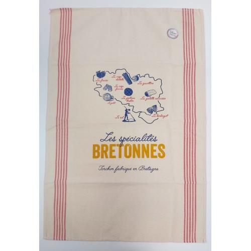 Torchon Les Spécialités Bretonnes