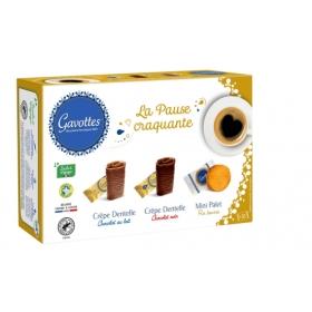 Coffret Pause Craquante - Assortiment Crêpes Dentelle Chocolat au lait, noir et de Mini palets 180 g