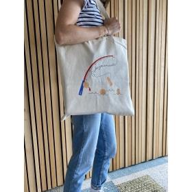 """Tote Bag en coton """"Pêche gourmande"""""""