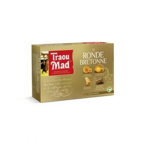 Coffret Ronde BretonneAssortiment de Crêpes Dentelle Nature et Chocolat au lait, de Galettes et Palets de Pont-Aven